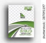 golf tournament front flyer  ... | Shutterstock .eps vector #287091197