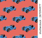 seamless pattern with retro... | Shutterstock .eps vector #287094977