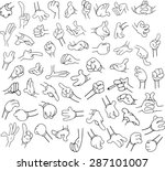 vector illustrations lineart... | Shutterstock .eps vector #287101007