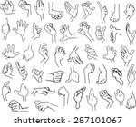vector illustrations lineart... | Shutterstock .eps vector #287101067