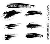 vector set of grunge brush... | Shutterstock .eps vector #287102093
