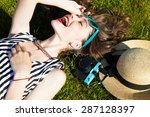 close up lifestyle portrait of... | Shutterstock . vector #287128397