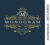 monogram design elements ...   Shutterstock .eps vector #287130803