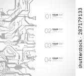 detailed printed circuit board... | Shutterstock .eps vector #287179133