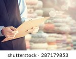 fabric store owner | Shutterstock . vector #287179853