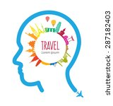 travel and tourism concept... | Shutterstock .eps vector #287182403