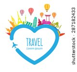 travel and tourism concept... | Shutterstock .eps vector #287182433