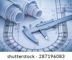 construction drawings metal... | Shutterstock . vector #287196083