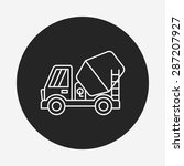 truck line icon | Shutterstock .eps vector #287207927