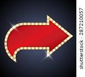 retro light bulb arrow with... | Shutterstock .eps vector #287210057