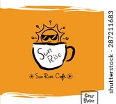 hand drawing coffee cup with... | Shutterstock .eps vector #287211683