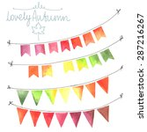 watercolor flags garlands set.... | Shutterstock .eps vector #287216267