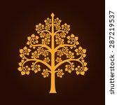 golden bodhi tree symbol with...   Shutterstock .eps vector #287219537