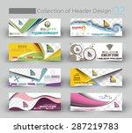 modern horizontal banner  ... | Shutterstock .eps vector #287219783