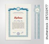 certificate  diploma  design... | Shutterstock .eps vector #287232977