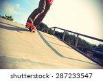 skateboarder legs skateboarding ... | Shutterstock . vector #287233547