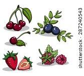 set of hand drawn various... | Shutterstock .eps vector #287240543