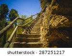 stairs  landscape with forests... | Shutterstock . vector #287251217