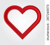 love icon. heart shape vector... | Shutterstock .eps vector #287260073