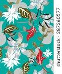 succulent plants seamless... | Shutterstock .eps vector #287260577