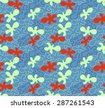 seamless pattern with abstract... | Shutterstock .eps vector #287261543