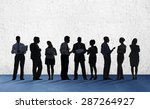 business people conference... | Shutterstock . vector #287264927