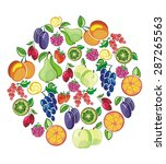 fruits collection | Shutterstock .eps vector #287265563