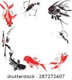 marine life such as   shrimp ... | Shutterstock .eps vector #287272607