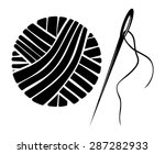 needle and yarn ball vector... | Shutterstock .eps vector #287282933