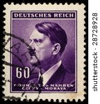 Small photo of Adolf Hitler postage stamp