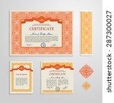 certificate  diploma  design... | Shutterstock .eps vector #287300027