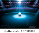 shiny night club   studio stage ... | Shutterstock .eps vector #287304803