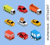 flat 3d isometric high quality... | Shutterstock .eps vector #287316347