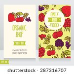 two cards with summer fresh... | Shutterstock .eps vector #287316707