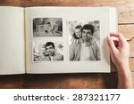 fathers day composition   photo ... | Shutterstock . vector #287321177