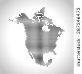 map of north america | Shutterstock .eps vector #287346473