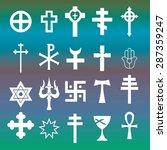 various religious symbols...   Shutterstock .eps vector #287359247