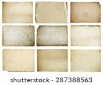 old papers set isolated  vector | Shutterstock .eps vector #287388563