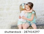 two adorable little sisters... | Shutterstock . vector #287414297