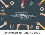 vector change ahead concept... | Shutterstock .eps vector #287421413