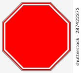 Blank Stop Sign. Blank Red...