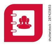 notebook  address  phone book... | Shutterstock .eps vector #287425853