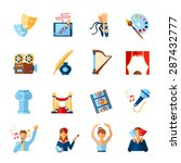 art and culture icons set with... | Shutterstock .eps vector #287432777