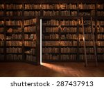 secret door in the bookcase.... | Shutterstock . vector #287437913