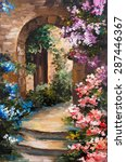 Oil Painting   Summer Terrace ...