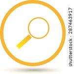 vector magnifying glass | Shutterstock .eps vector #287463917