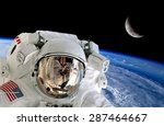 Astronaut Spaceman Isolated...