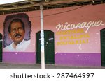 Small photo of April 26 2015, Belen, Nicaragua: the portrait of the president of the country, Daniel Ortega is displayed in public places regularly