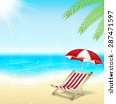 summer vacation background.... | Shutterstock .eps vector #287471597