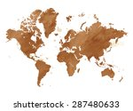 vector illustrated map of the... | Shutterstock .eps vector #287480633